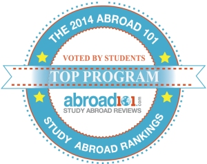 "Sol Education Abroad selected the #1 ""Top Study Abroad Program"" in the US by Abroad101 and StudentUniverse!"